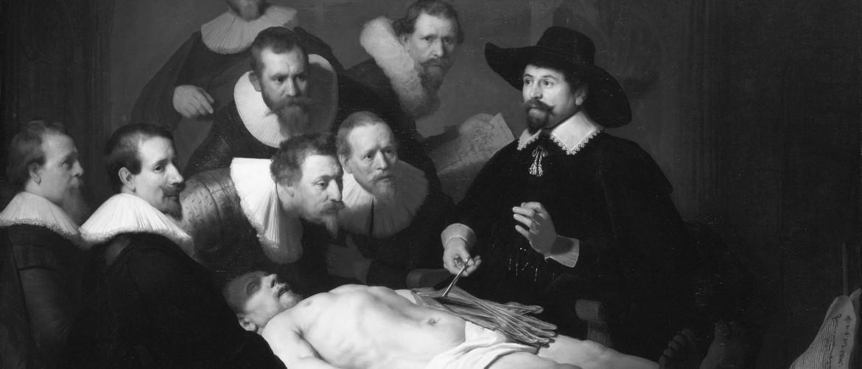 Medisch schrijver, wetenschappelijk schrijver (De anatomische les van Dr. Nicolaes Tulp, Rembrandt, 1632)
